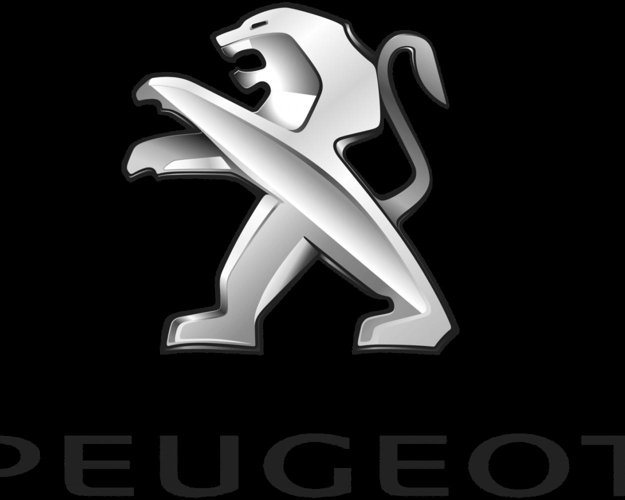 logo peugeot bw